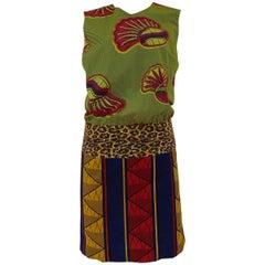 Stella Jean green multicoloured dress NWOT