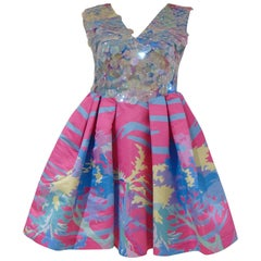 Leitmotiv multicoloured sequined dress