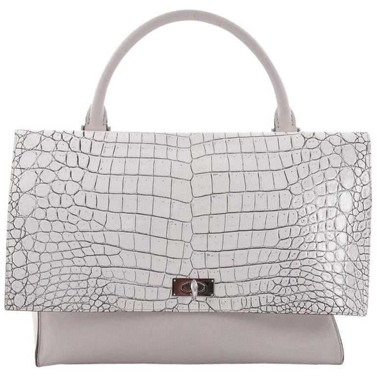 a64ee0598e02 Givenchy Shark Convertible Satchel Crocodile Embossed Leather Medium For  Sale
