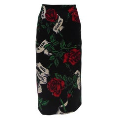 Moschino long flowers skirt