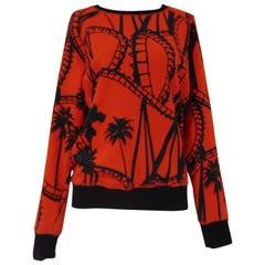 Leitmotiv red and black unworn sweater NWOT