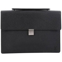 Louis Vuitton Porte-Documents Angara Handbag Taiga Leather