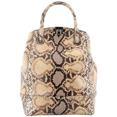 Valentino Rockstud New Dome Convertible Bucket Bag Python