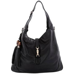 Gucci New Jackie Handbag Leather Large