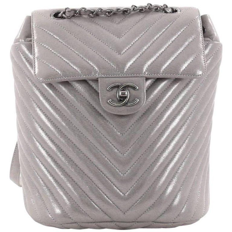 dc3d4a547a3a Chanel Urban Spirit Backpack Iridescent Chevron Calfskin Small For Sale