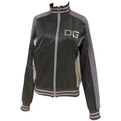 Dolce & Gabbana grey green sweater sport jacket
