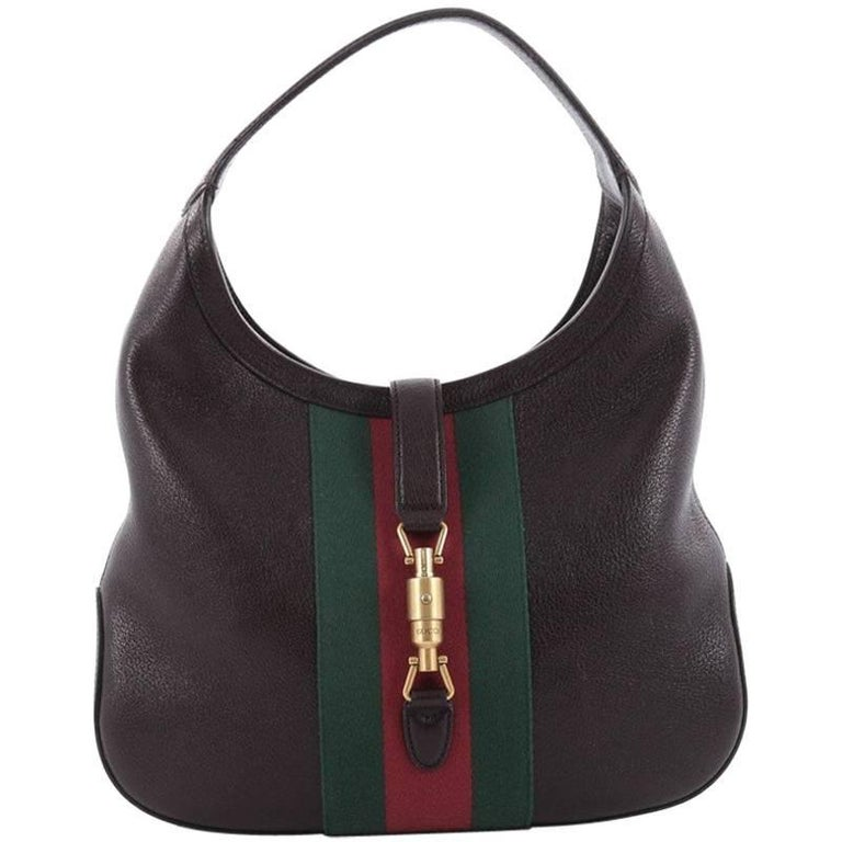 5bcc5338194 Gucci Jackie Web Hobo Soft Leather at 1stdibs