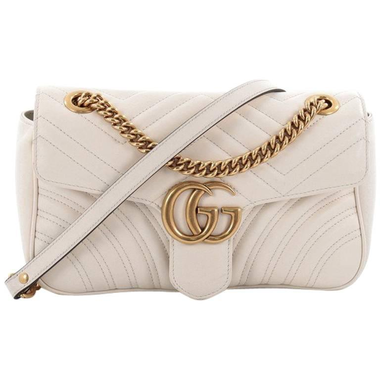 913050e11 Gucci GG Marmont Flap Bag Matelasse Leather Small at 1stdibs