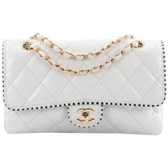 Chanel Punched Edge CC Flap Bag Quilted Lambskin Medium