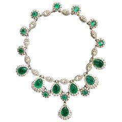 Ciner emerald colored crystal necklace