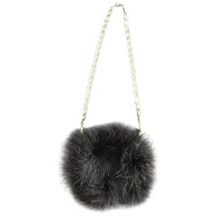 Halston rhinestone and feather evening bag