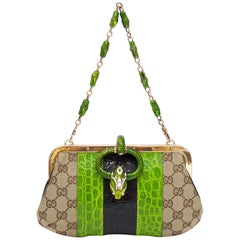 Gucci by Tom Ford Spring/Summer 2003 Snake Head Embellished Dinner Bag