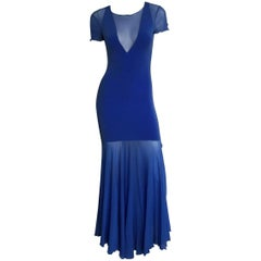 Karl Lagerfeld royal blue mesh form fittings dress