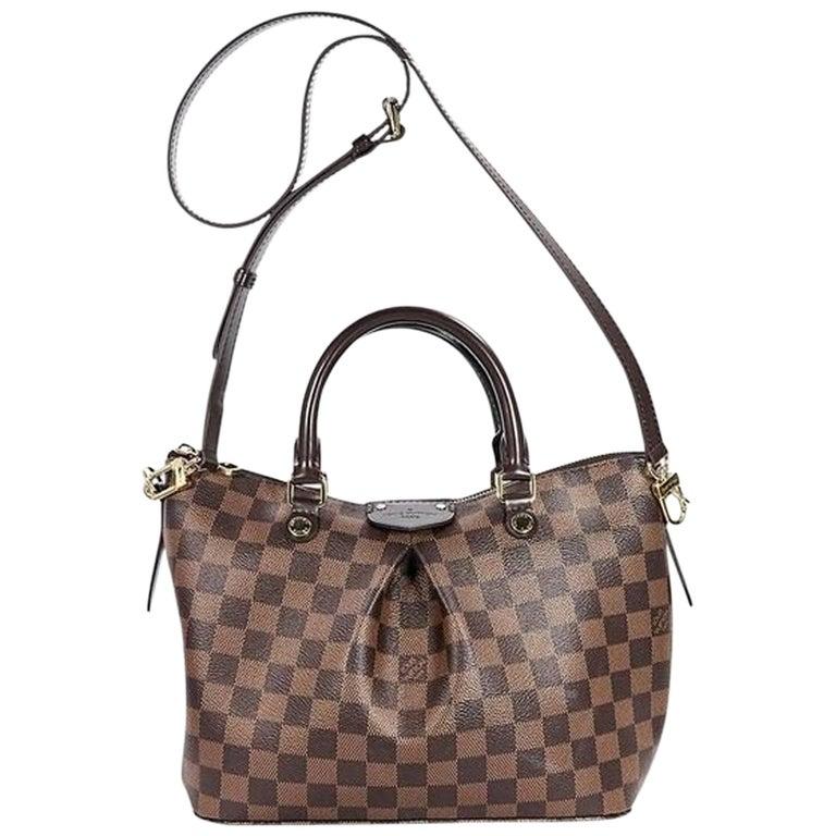 Brown Louis Vuitton Damier Ebene Siena PM Bag For Sale