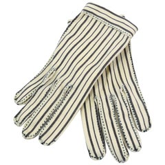 1950s Dainty Hermes Striped Gloves