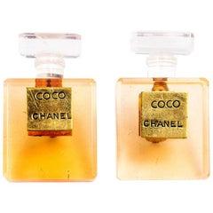 90s Iconic  Chanel Perfume Bottle Earrings