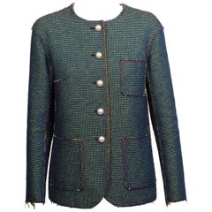 CHANEL Shot Colour Tweed Jacket