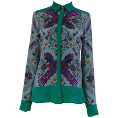 Versace Collection silk multicoloured shirt