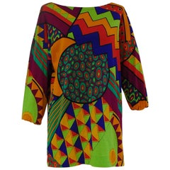 Gucci multicoloured oversized cotton shirt