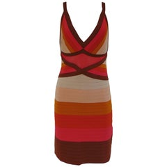 M by Missoni multicoloured stripes dress