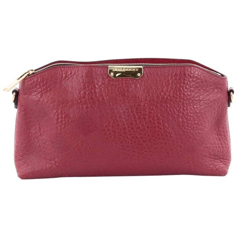 d9d7776adb1 Burberry Chichester Crossbody Bag Embossed Check Leather Small For Sale