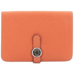 Hermes Dogon Compact Wallet Leather