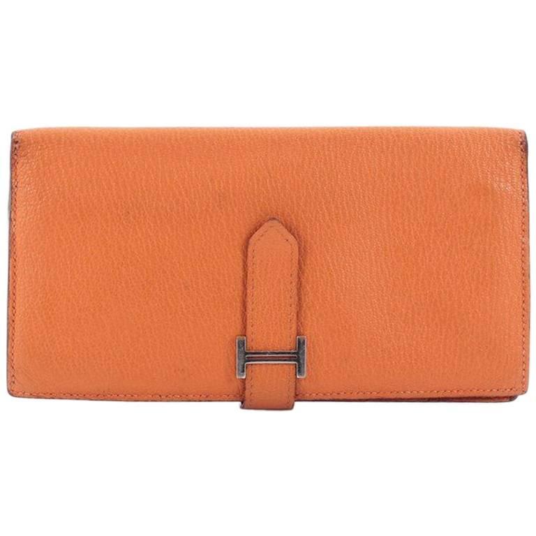 Hermes Bearn Chevre Mysore Long Wallet