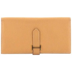 Hermes Bearn Wallet Chevre Mysore Long
