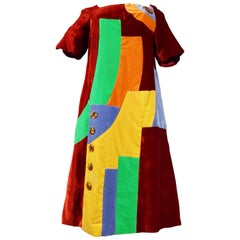 Velvet Dress For Cinema Sonia Delaunay Style