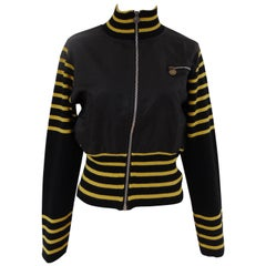 Versace Jeans Couture black yellow jacket