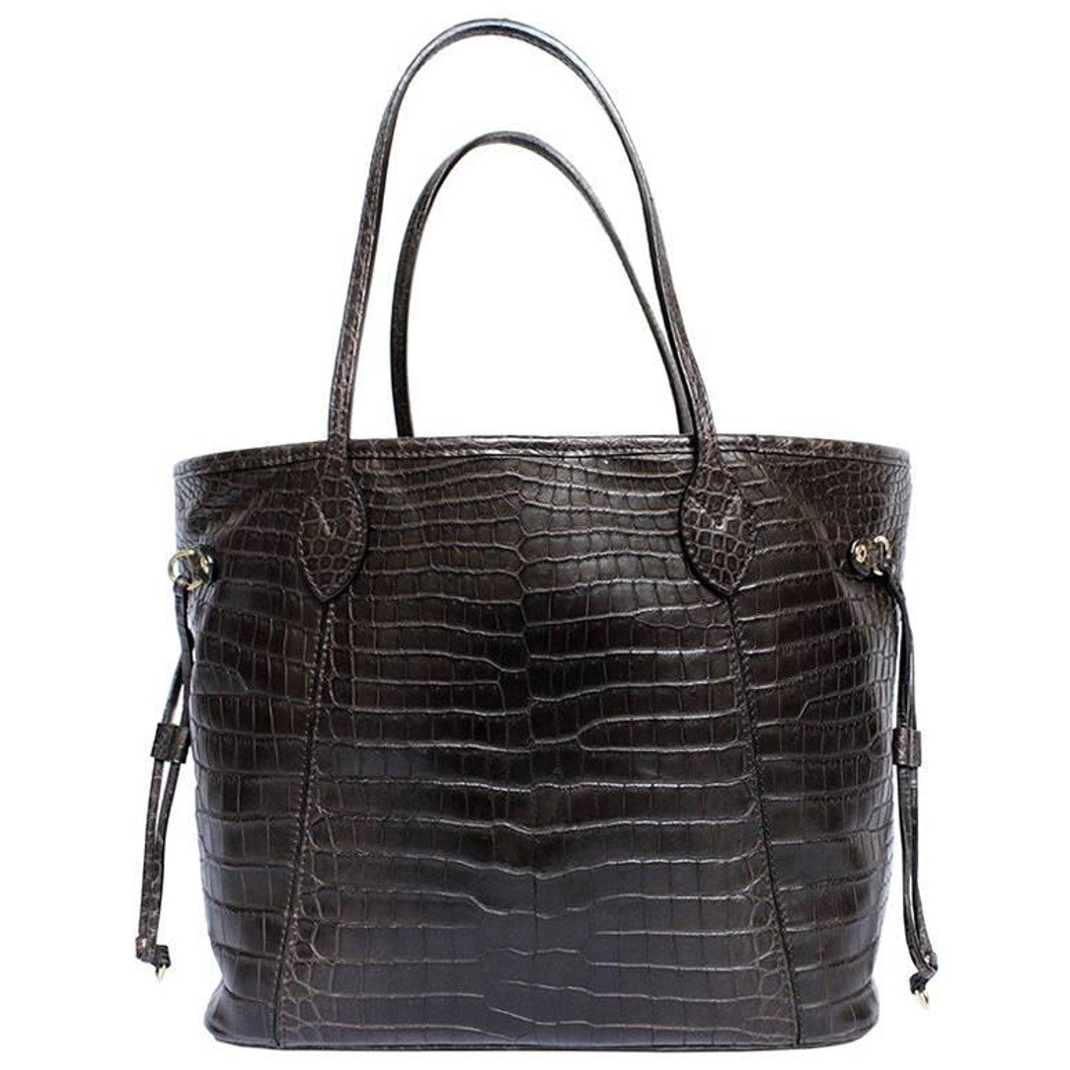 136e5f5507e7 LOUIS VUITTON  Neverfull  bag in Soft Tobacco Alligator Leather For Sale at  1stdibs