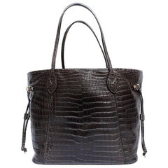 LOUIS VUITTON 'Neverfull' bag in Soft Tobacco Alligator Leather