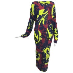 Vivienne Westwood Anglomania asymetrical print knit jersey dress