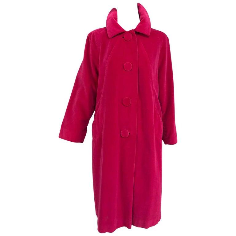 Marguerite Rubel San Francisco bright pink velvet coat 1960s