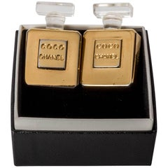 Chanel Vintage Perfume Bottle Clip On Earrings