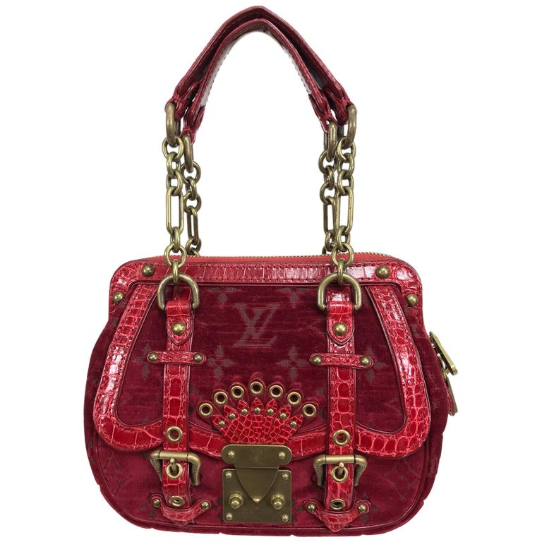 Louis Vuitton Limited Edition Velours Alligator Gracie PM Satchel Handbag 2004