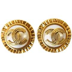 1980s Chanel Pearl Earrings