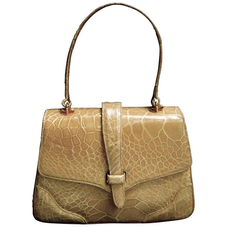 Lucille de Paris Stylish Reptile Handbag c 1960 1