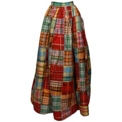 OSCAR DE LA RENTA Patchwork Ball Skirt