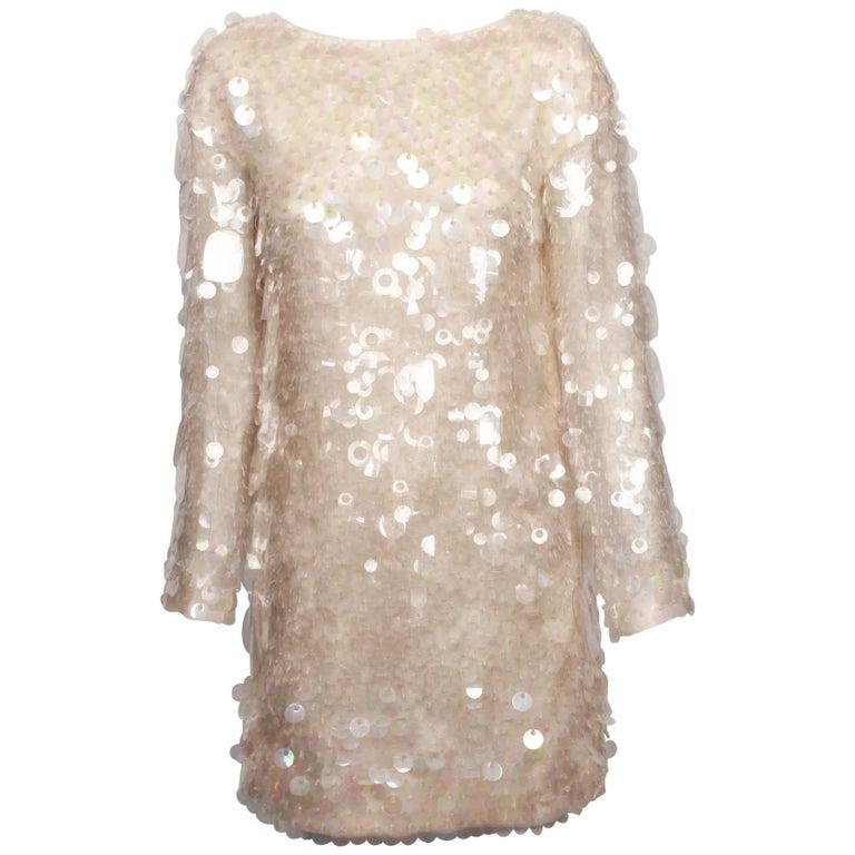 MIU MIU Perspex Paillette Cocktail Dress