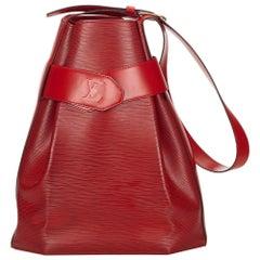 Louis Vuitton Red Epi Sac dEpaule