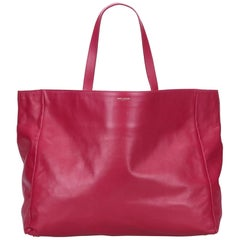 YSL Pink Leather Tote Bag