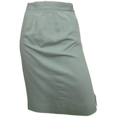 Ferragamo 1980s Cotton Pencil Skirt Size 6.