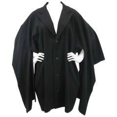 Yohji Yamamoto Vintage Black Wool Kimono Coat
