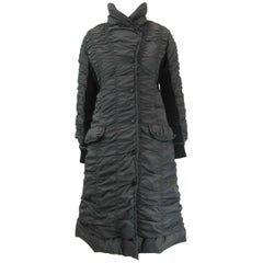 Issey Miyake Ruched Down Long Puffer Jacket