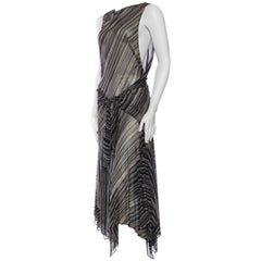 Donna Karan Sheer Bias Chiffon Dress