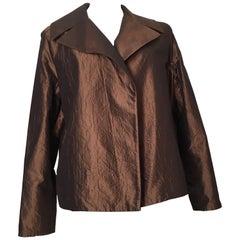 Dusan Bronze Silk Cashmere Evening Jacket Size XL.
