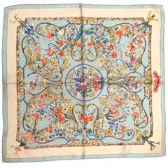 Vintage Hermes Scarf - 100% Silk