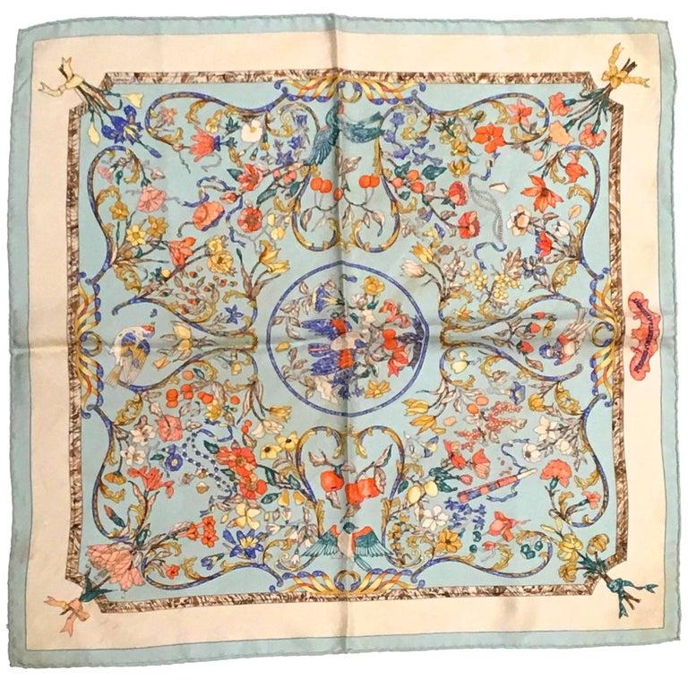 ed4940caead0 Hermes  A la fenêtre du chasseur  scarf For Sale at 1stdibs