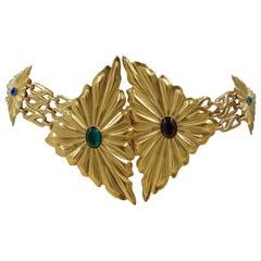 Emilio Pucci vintage gold tone belt NWOT